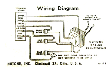 nutone diagram 350 knock doorbells vintage door chimes tech advice connections wiring diagram for a doorbell at bayanpartner.co